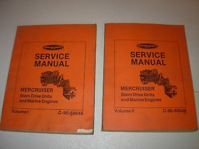 MerCruiser Stern Drive Units & Marine Engines Service Manuals - 2 vol set 1970's