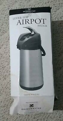 Grindmaster ENALG22S 2.2L Glass Lined Lever Airpot New Never Been Used