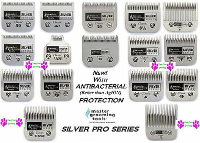 MGT ANTIBACTERIAL PET GROOMING SILVER BLADE Fit Oster A5,Many Andis,Wahl Clipper