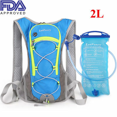 2L TPU Water Bladder Bag Backpack Hydration System Camping Hiking