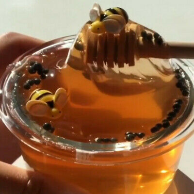 New Honey Bee Crystal Slime Mud Clay Sludge Toy Stress Relief Kids Toy Gift 60ml
