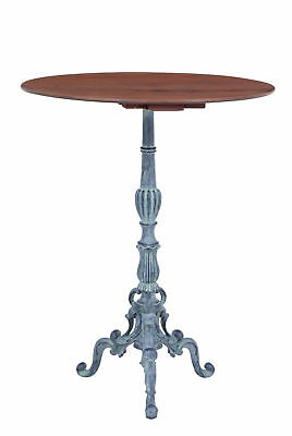 1920's FRENCH CAST IRON AND MAHOGANY BISTRO TABLE