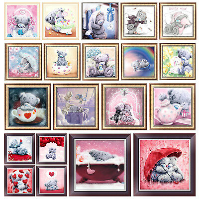 5D DIY Cute Bear Diamond Painting Embroidery Cross Stitch Kit Mosaic Craft Decor