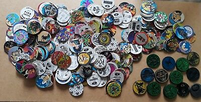 253 POGS lot Pogs DIFFERENTSES SERIES 1, 2 + 14 KINIS SLAMMER TBEG AUTHENTIQUES.