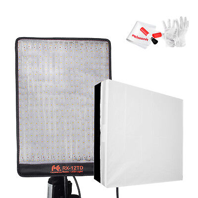 FalconEyes RX-12TD Bi-Color Dimmable 3000K-5600K 50W Flexible Studio Light+ Gift