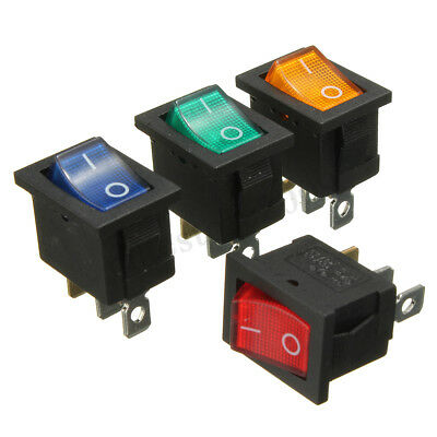 Universal LED illuminated 3 Pins ON/OFF Toggle Rocker Switch Car Boat Dashboard