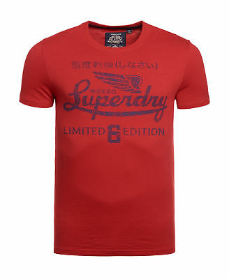 New Mens Superdry Limited Icarus T-Shirt Stadium Red