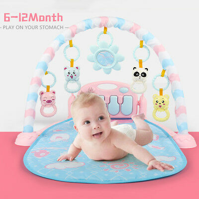 Children Baby Fitness Rack Piano Play Mat Gym Music with Lights Early Education