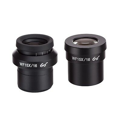 AmScope EP15X30F Pair of Extreme Widefield 15X Eyepieces (30mm) with One Focusab