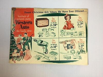 Vintage 1950'S WESTERN AUTO CHRISTMAS CATALOG 47 PGS.TOYS TOYS GIFTS
