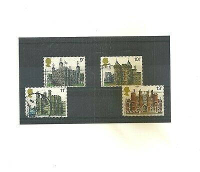GB 1978  British Architecture          set of 4 used stamps