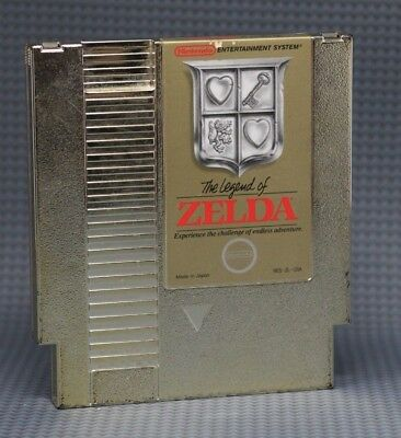 NES The Legend of Zelda First Print Silver Seal *Authentic* *Tested* *Saves*