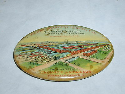 Vintage Advertising Pocket Mirror Celluloid Carriage Factory 490-L