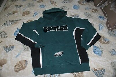 Boy's Philadelphia Eagles Hoodie NFL Team Apparel 10/12 Med. 60 Cotton 40% Poly