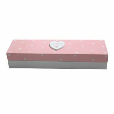 MY BIRTH CERTIFICATE Pink Baby Wooden Certificate Box Ideal Christening Gift