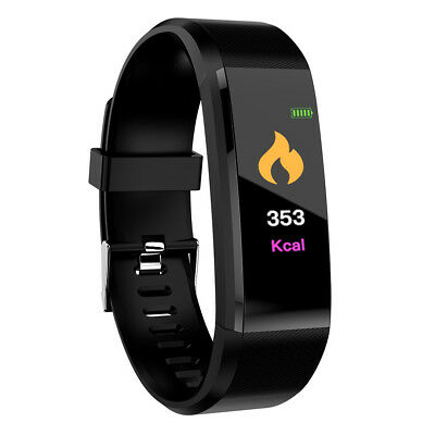 Smartwatch Impermeable Reloj inteligente Fitness Tracker ID115plus Android IOS