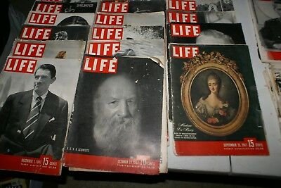 Life Magazine  Lot of 22 - 1944-1948 Collectible, Arts & Crafts, History Lessons