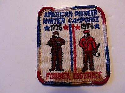 Forbes 1976 Winter Camporee Westmoreland Fayette Council Penna Boy Scout Patch