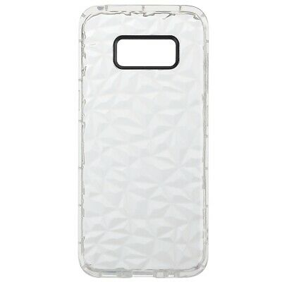 Pour Samsung Galaxy S8 Diamond Pattern Shockproof Cas Cover Silicone Gel Blanc