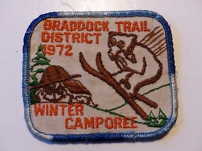 1972 Braddock Trail District Campo Westmoreland Fayette Council Boy Scout Patch
