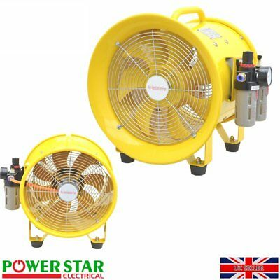 """Explosion Proof Pneumatic Ventilation Portable Axial Fan Blower ATEX Rated 12"""""""