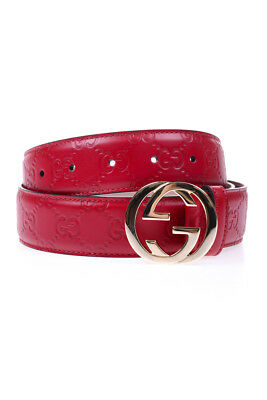 CINTURA GUCCI BELT Pelle MADE IN ITALY Donna Rosso 370543CWC1G 6433 ... fda86640a5ec