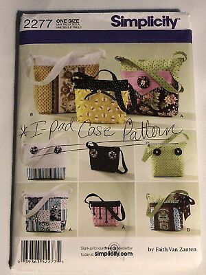 Simplicity Bags In Three Sizes With Detachable Covers - Uncut Pattern 2277