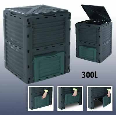 300L Garden Composter Eco Compost Converter Recycling Soil Storage Bin Waste Box