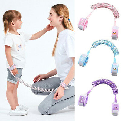 Safety harness leash anti lost wrist link traction rope for toddler baby kid DSU