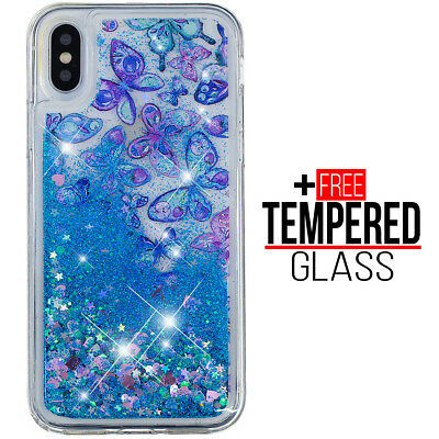 For iPhone XS Max Liquid Glitter Bling Design Case Shockproof Silicona Gel Cover