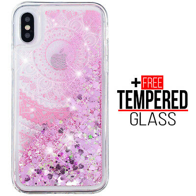 For iPhone XS Max Liquid Glitter Bling Design Case Shockproof Cover Silicona Gel