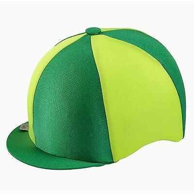 Green & Lime Riding Hat Silk Cover For Jockey Skull Caps One Size