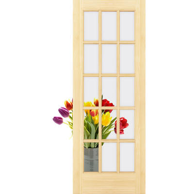 Frameport FA_3227294W Clear Glass 36 Inch by 80 Inch 15 Lite Passage Door