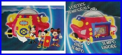 Gadget Topolino TIME MACHINE Macchina Tempo MICKEY Mouse DISNEY PLAYSET ITALY !!