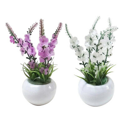 Artificial Bonsai Fake Silk Flower in Vase Pot Table Office Home Party Decor