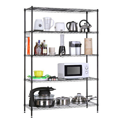 5-Tier Heavy Duty Extra Large Shelving Unit Wire Storage Rack Shelf Shelves Unit