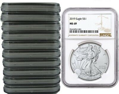 2019 1oz Silver Eagle NGC MS69 Brown Label - 10 Pack - PRESALE