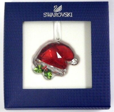 Santa's Hat Ornament 2018 Holiday Christmas Swarovski Crystal 5395978