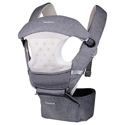 MADENAL 360º Ergonomic Baby Carrier with Hip Seat, 10 Positions For All Seasons