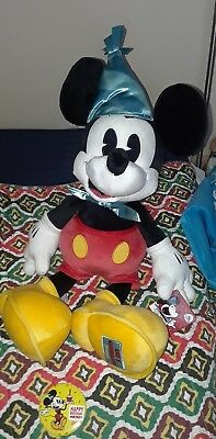 Disney Parks Exclusive Mickey's 90th Birthday Mickey Mouse Jumbo Plush w button