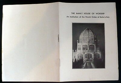 1920s Baha'i House of Worship Wilmette IL 12-page Brochure