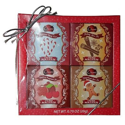 CHAMI* 20pc Set HOLIDAY TEA BAGS 4 Flavor PEPPERMINT+SPICE+GINGERBREAD Exp. 8/21