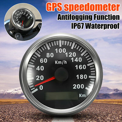 85mm 200 KM/h Car Motor GPS Antenna Speedometer Speedo Waterproof Digital Gauges