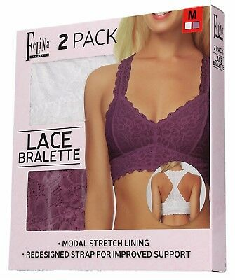 1b26e9a7a27bc FELINA WOMEN S COMFORTABLE Sexy Lace Racerback Bralette (Pack Of 2 ...