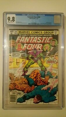 Fantastic Four # 206  Nm+/mint 9.8  With  Jewellers Ring Insert  Cents  1979