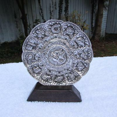Antique 19thC Indian / Eastern Solid Silver Dish Circa 1900 - Fine Detail