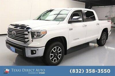 2018 Toyota Tundra Limited Texas Direct Auto 2018 Limited Used 5.7L V8 32V Automatic 4WD Pickup Truck