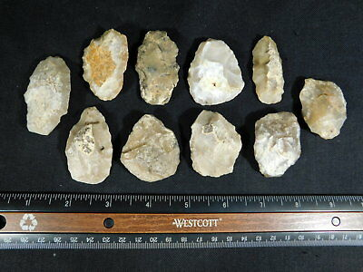 Lot of TEN! 55,000 to 12,000 Year Old Early Man Lithic Aterian Artifacts 196gr e
