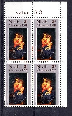 Niue (1790) 1972 Christma in block of 4 Unmounted miny Sg174