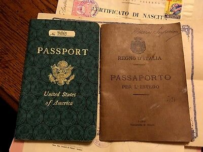 Papers & Passport, USA, Italy, Marriage, Birth